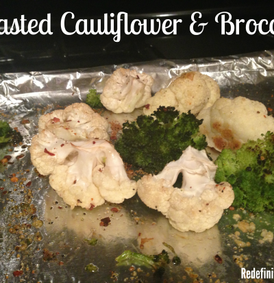 Roasted Cauliflower & Broccoli healthy snacking recipe