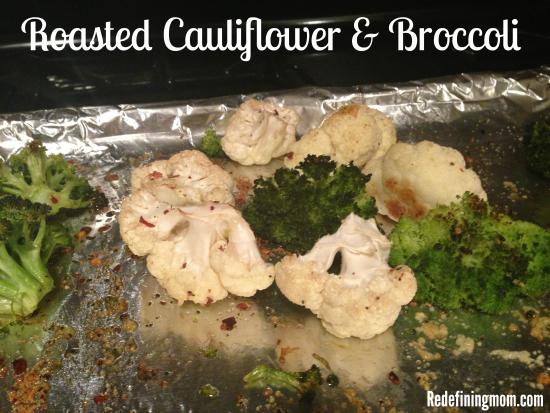 Roasted Cauliflower & Broccoli healthy snacking recipe