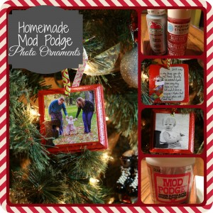 Homemade Mod Podge Photo Ornaments