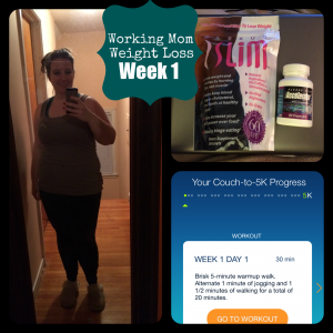 Working Mom Weight Loss: Week 1