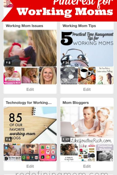 Learn how working moms can use Pinterest to help them stay organized and be creative.