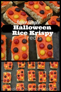 Super Simple Halloween Rice Krispy Treats