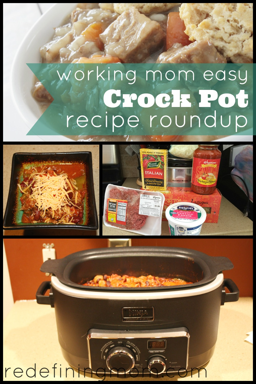 Find my favorite crock pot recipes in my working mom easy crock pot recipe roundup. Some of my favorites include beef stew, chili, and lasagna.