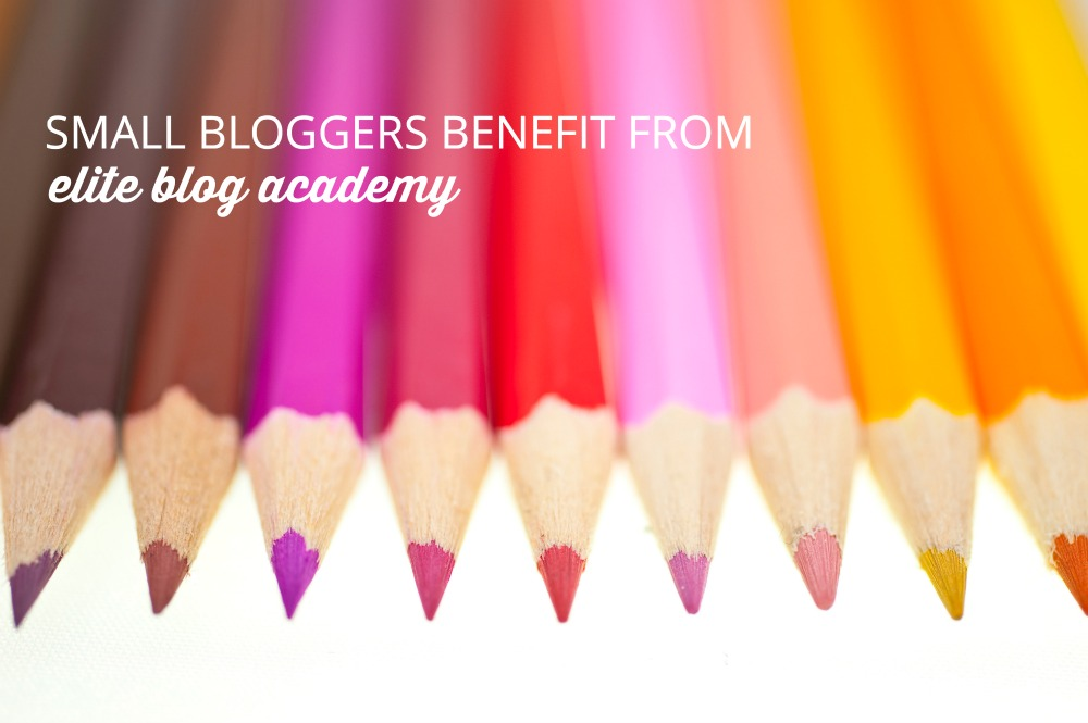 Small bloggers can benefit from Elite Blog Academy by leveraging the proven system that the course follows and completing all 12 units in order, you can see success too! Don't delay, registration is only open for FIVE DAYS!