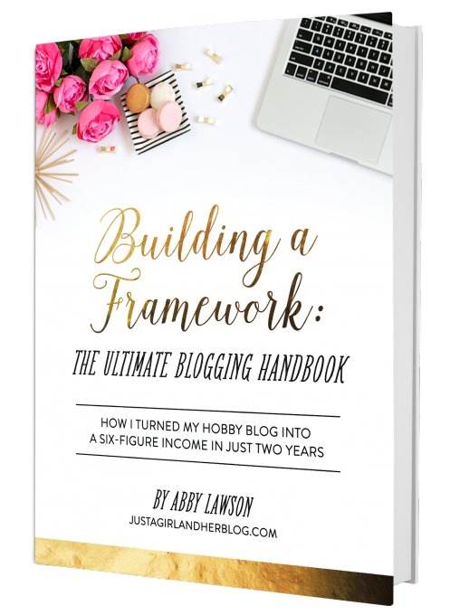 My honest review of Building a Framework: The Ultimate Blogging Handbook by Abby Lawson and the strategies I've learned to make money on my own blog.