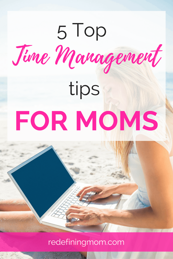 5 awesome time management tips for moms. Focus on daily, consistent actions that keep the overwhelm under control. Being consistent and intentional in your daily actions will make the administrative side of managing your time seem effortless. The key to success is to create a system that works for you and stick with it. Tips include managing your daily to-do list and calendar and keeping your digital life under control.