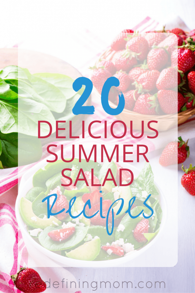 20 Delicious Summer Salad Recipes that are easy to make for work, backyard parties, holiday celebrations, birthday parties, and so much more! It's hard to eat healthy during all the summer fun happening around you, these 20 summer salad recipes will help you choose healthier options!