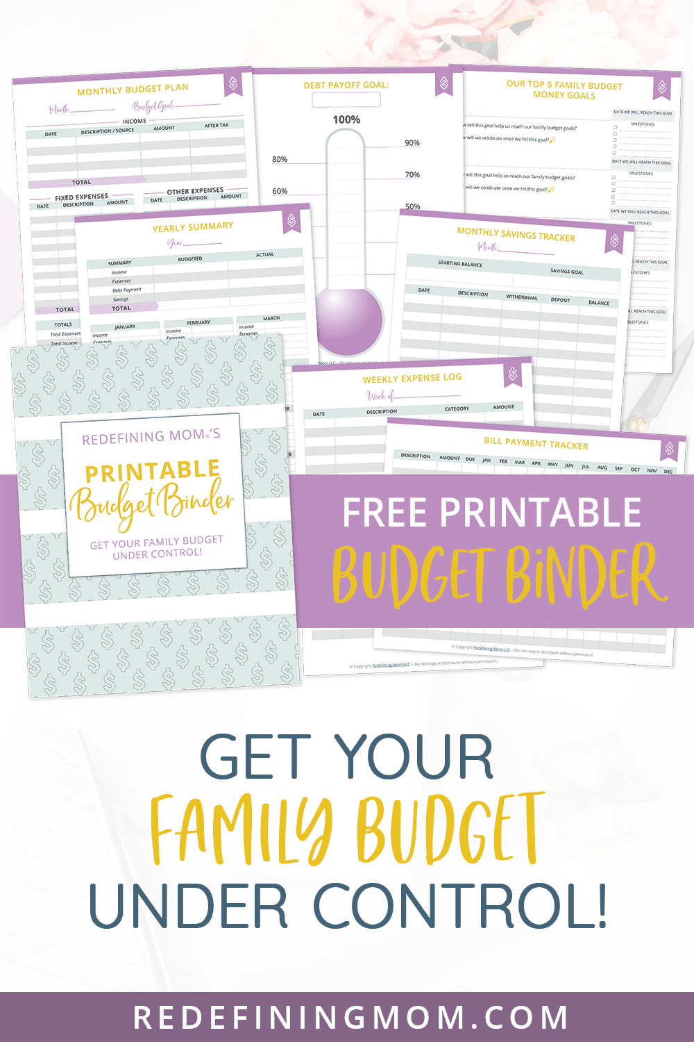 free printable budget planner pin
