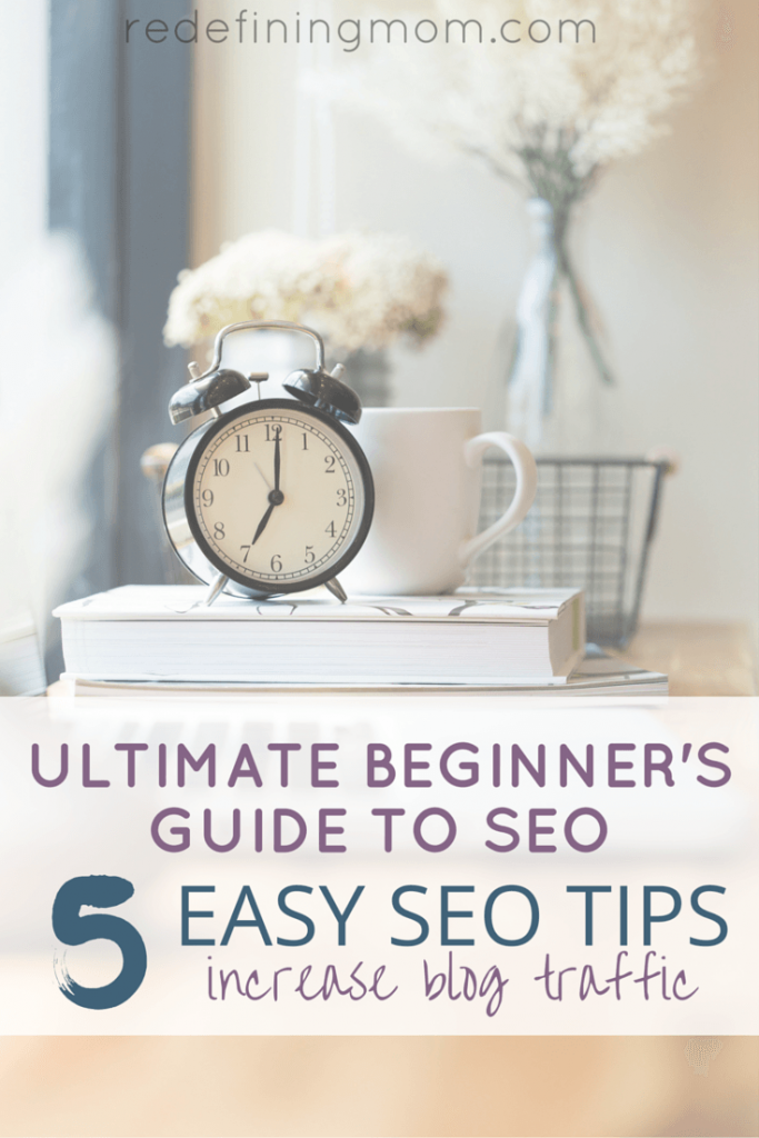 The ULTIMATE Beginners Guide to SEO for Bloggers! Being found in Google search is necessary for growing a website. Search Engine Optimization (SEO) is easy when you implement these 5 easy SEO tips!
