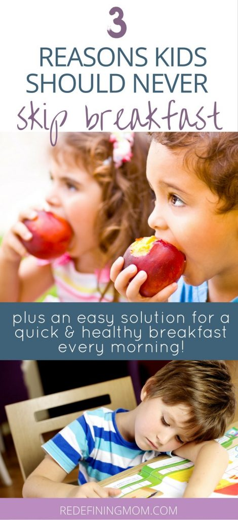 YES! my mornings are so overwhelming and getting a healthy breakfast on the table sounds nearly impossible! These tips have helped me understand the risks of skipping breakfast and how to fix it for my kids!