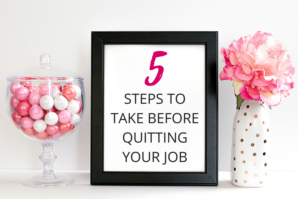 Learn how I prepared to quit my job in 5 steps! I know starting your own business can seem overwhelming and intimidating. Especially because there are a lot of things you need to take care of that are not exactly fun. You need to set up the right processes and systems from the beginning so that you will be able to reap the rewards later on!