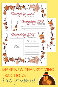 Do you have family Thanksgiving traditions? Ever since we stopped going to our grandparent's house for Thanksgiving, we haven't made new Thanksgiving memories for our kids. Download these FREE Thanksgiving printables and start making new Thanksgiving traditions this fall!