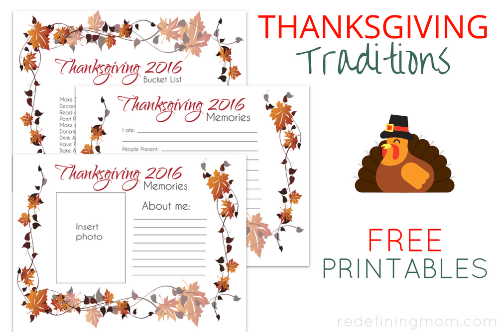 Make new family memories this Thanksgiving with three FREE printables! Start new Thanksgiving traditions this fall!