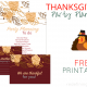 Thanksgiving Party Planning FREE Printables