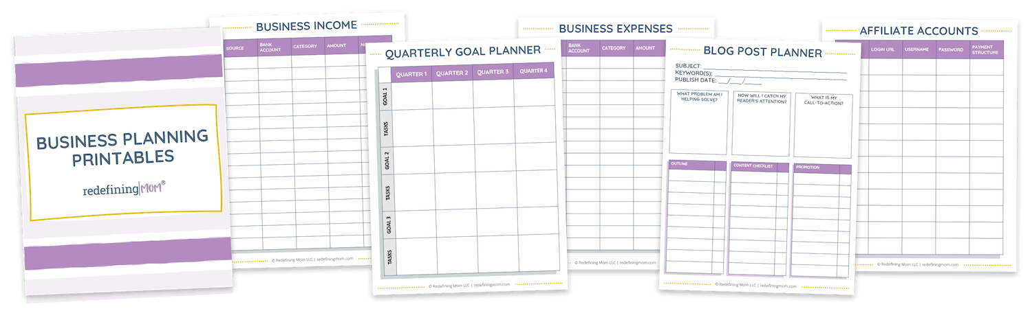 free business tracking printables