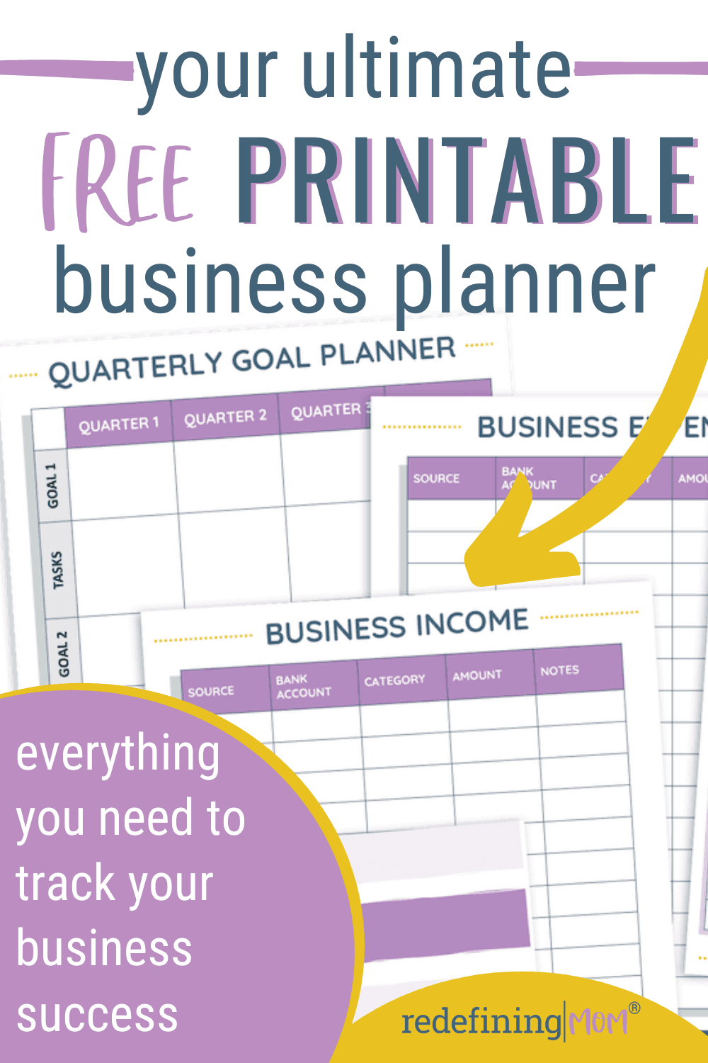 free business planning printables