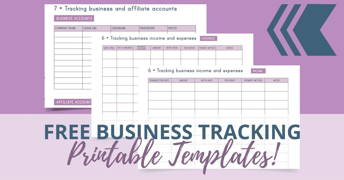 Free Business Tracking Printable Templates Redefining Mom