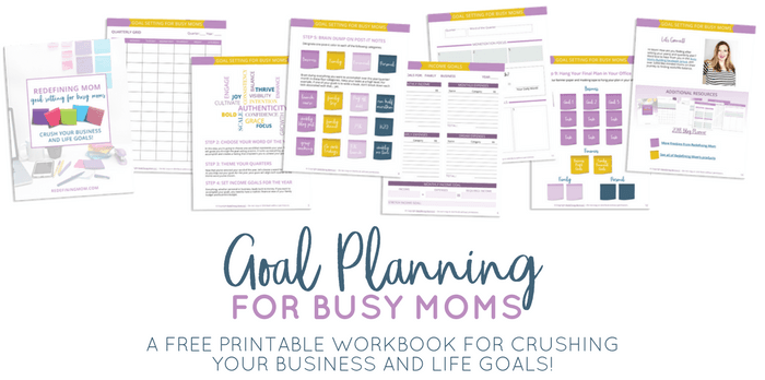 Free printable goal planning for busy moms workbook. Crush your business and life goals in 2018! 2018 goals free printable / 2018 goals planner / Yearly goals printable free / Yearly goals bullet journal / Business goal setting