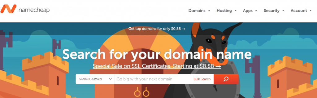 How to purchase a domain with namecheap