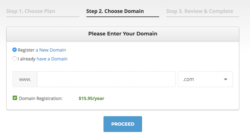How to register your domain address with Siteground