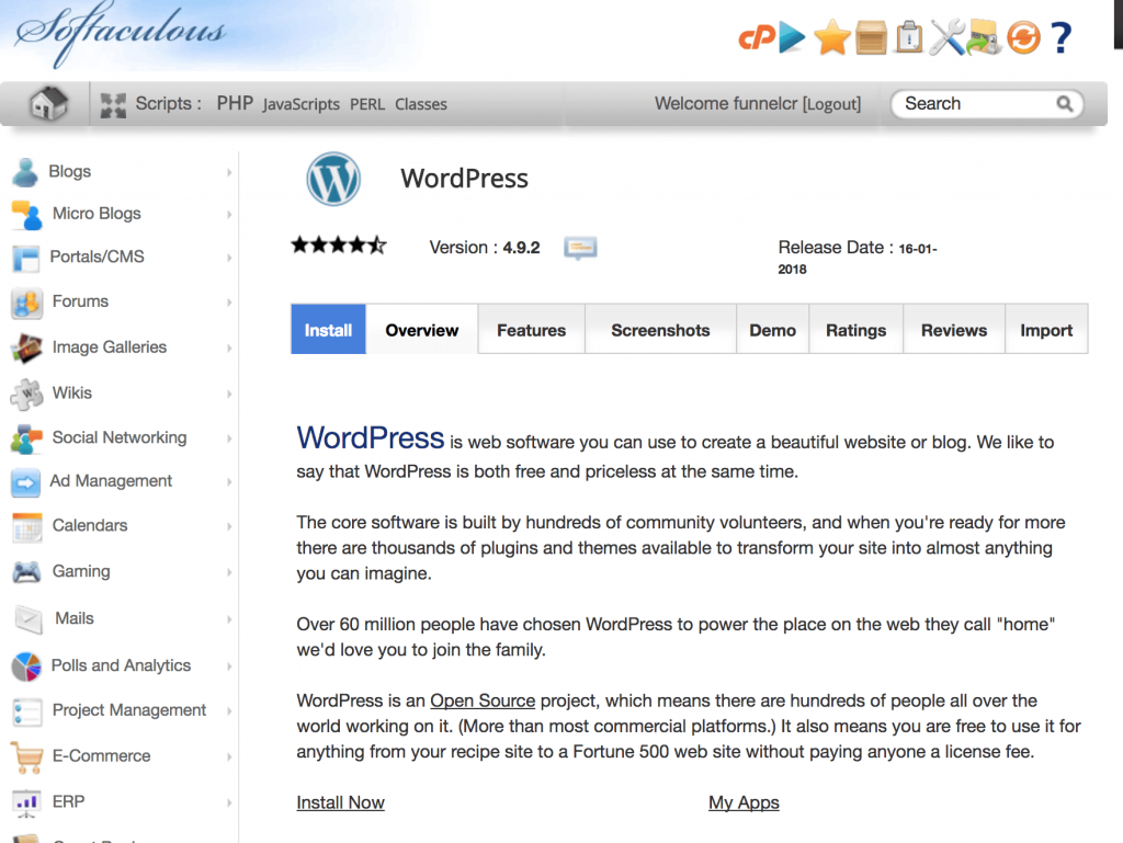 Install WordPress on Siteground cPanel
