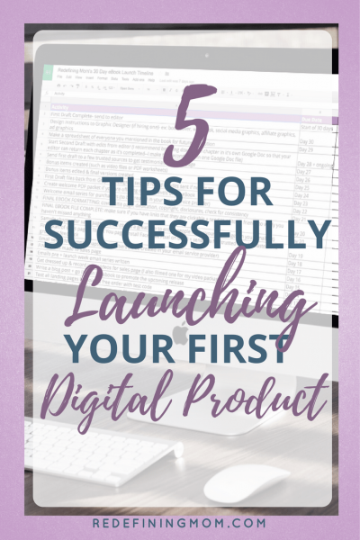 5 tips for successfully launching your first digital product. Launching a digital product will transform your online business. Learn how to monetize your online business through launching digital products. launch a product / make money online / make money at home / make money from home / start an online business products