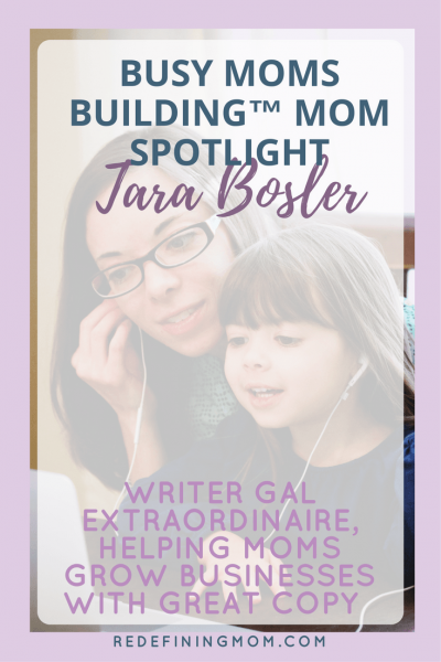 "Tara Bosler loves to help women GROW their businesses through engaging and authentic copy that doesn't sound like a template! Her family motto is: ""We're Bosler girls, and we figure stuff out!"""
