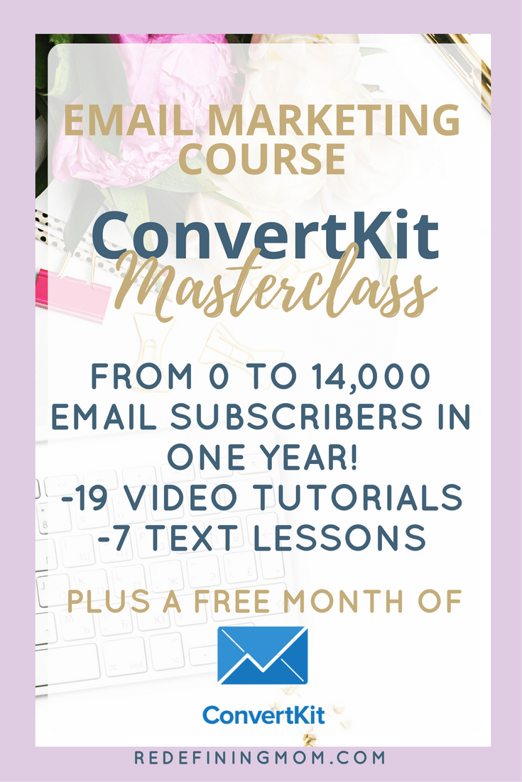 Ultimate Beginner's Guide to Building an Email List with ConvertKit. The CovertKit Masterclass is here! Email marketing tips on how to leverage ConvertKit and grow your email list from 0 to 14,000 in just one year!