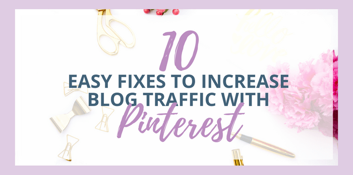 10 Easy Fixes To Increase Blog Traffic Fast With Pinterest. Pinterest is a powerful search engine for building your blog and online marketing, just like Google. Pinterest marketing tips, Pinterest marketing strategies, Pinterest marketing for bloggers, Pinterest course