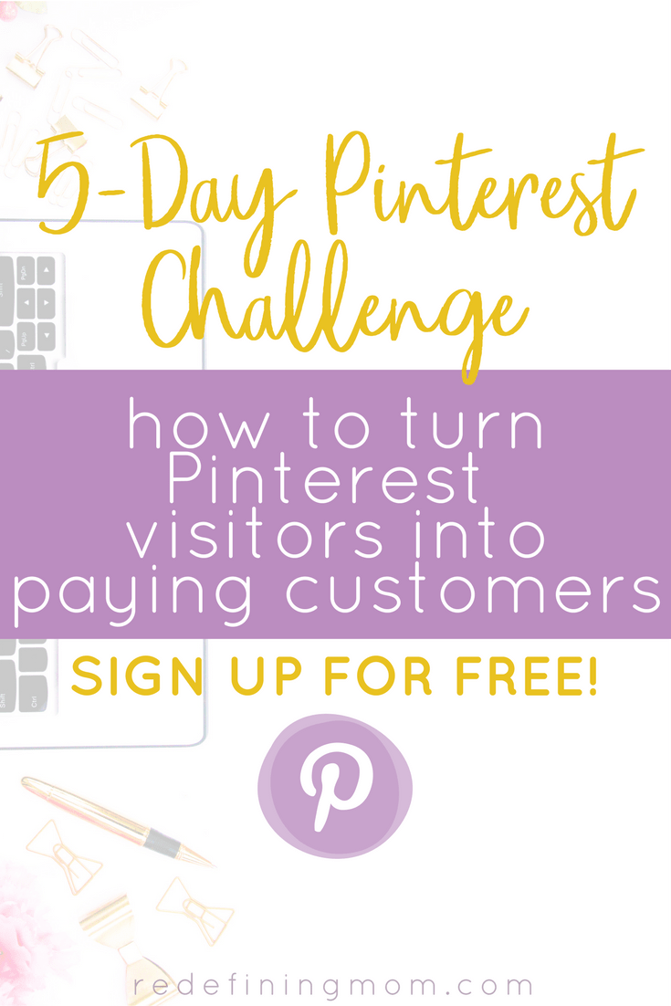 5-day Pinterest challenge for bloggers and online business owners! Pin Practical Funneling will teach you how to turn Pinterest visitors into paying customers! Learn how to leverage free traffic from Pinterest and build a sales funnel that converts. Pinterest marketing strategies for bloggers via @redefinemom