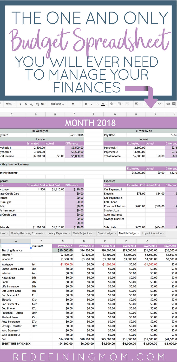 how to make budget spreadsheet