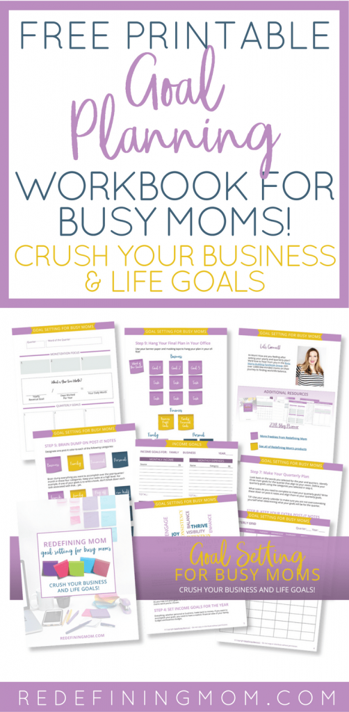 Free printable goal planning for busy moms workbook. Crush your business and life goals in 2018! 2018 goals free printable / 2018 goals planner / Yearly goals printable free / Yearly goals bullet journal / Business goal setting #goals #goalsetter #goaldigger #goalplanning