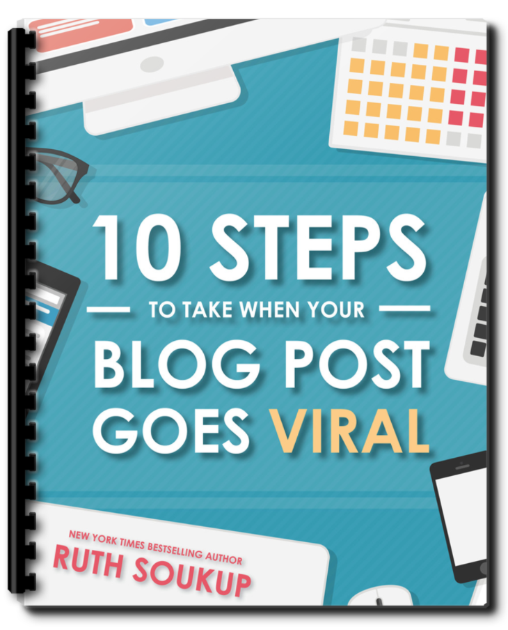Download this free resource from Elite Blog Academy: 10 Step to Take When a Blog Post Goes Viral