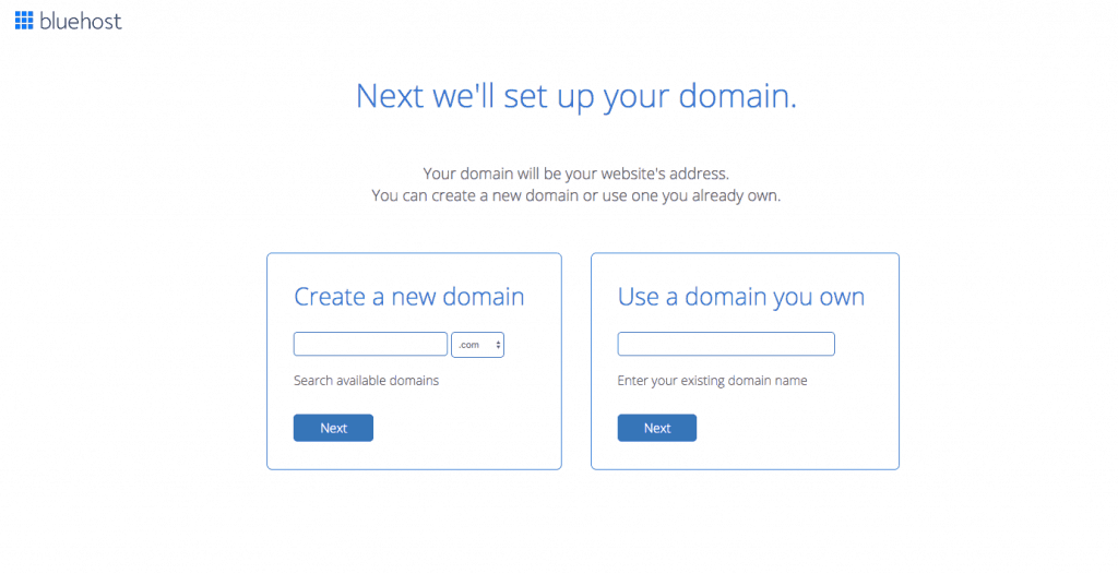 How to register your domain address with Bluehost
