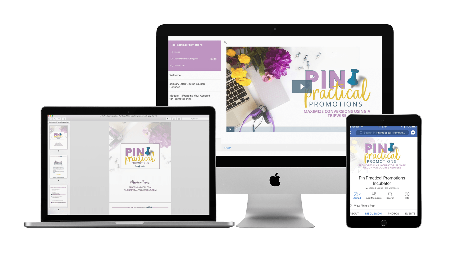 Pin Practical Promotions is the best Pinterest ads course, an advanced-level course on running successful promoted pin campaigns