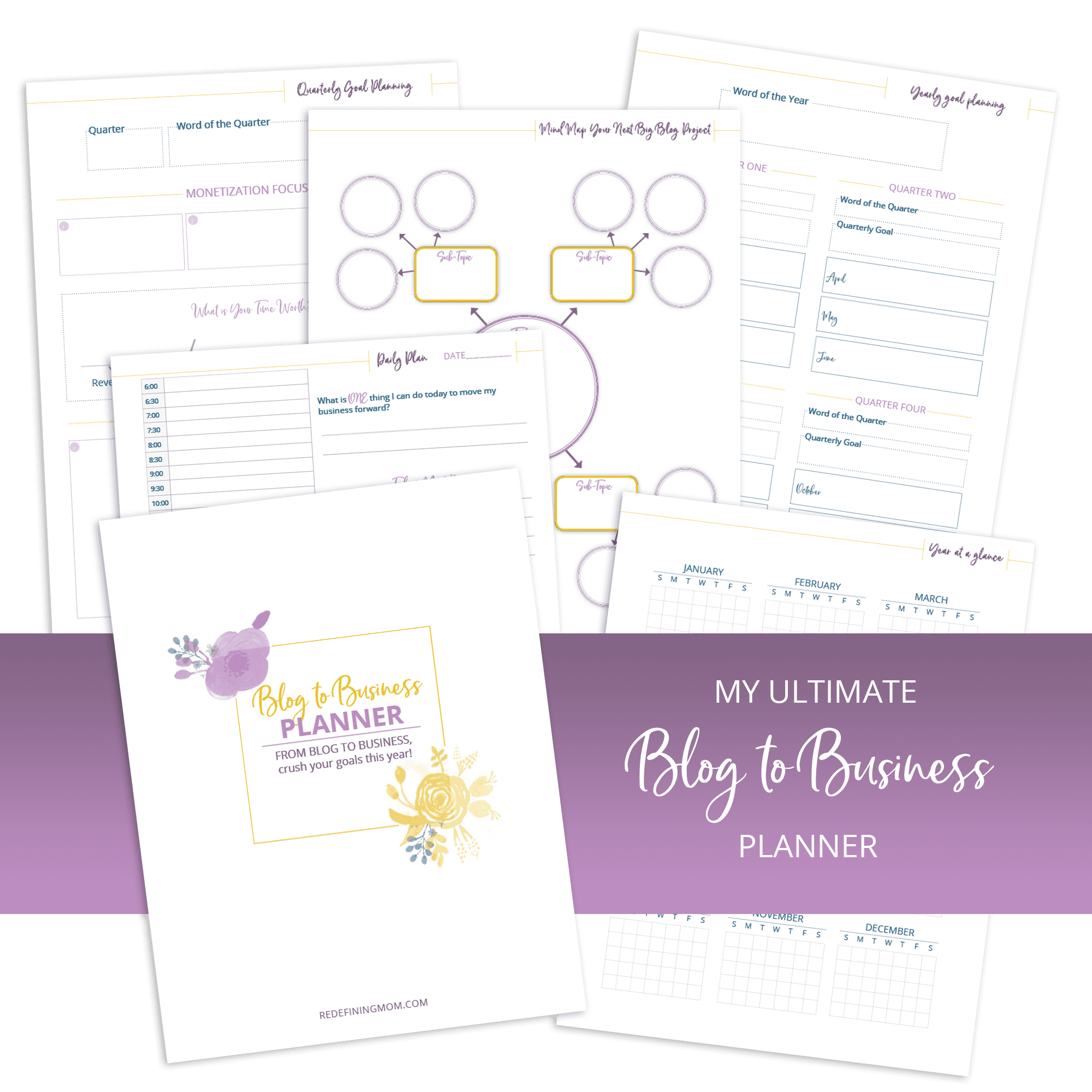 free blog to business planner from redefining mom