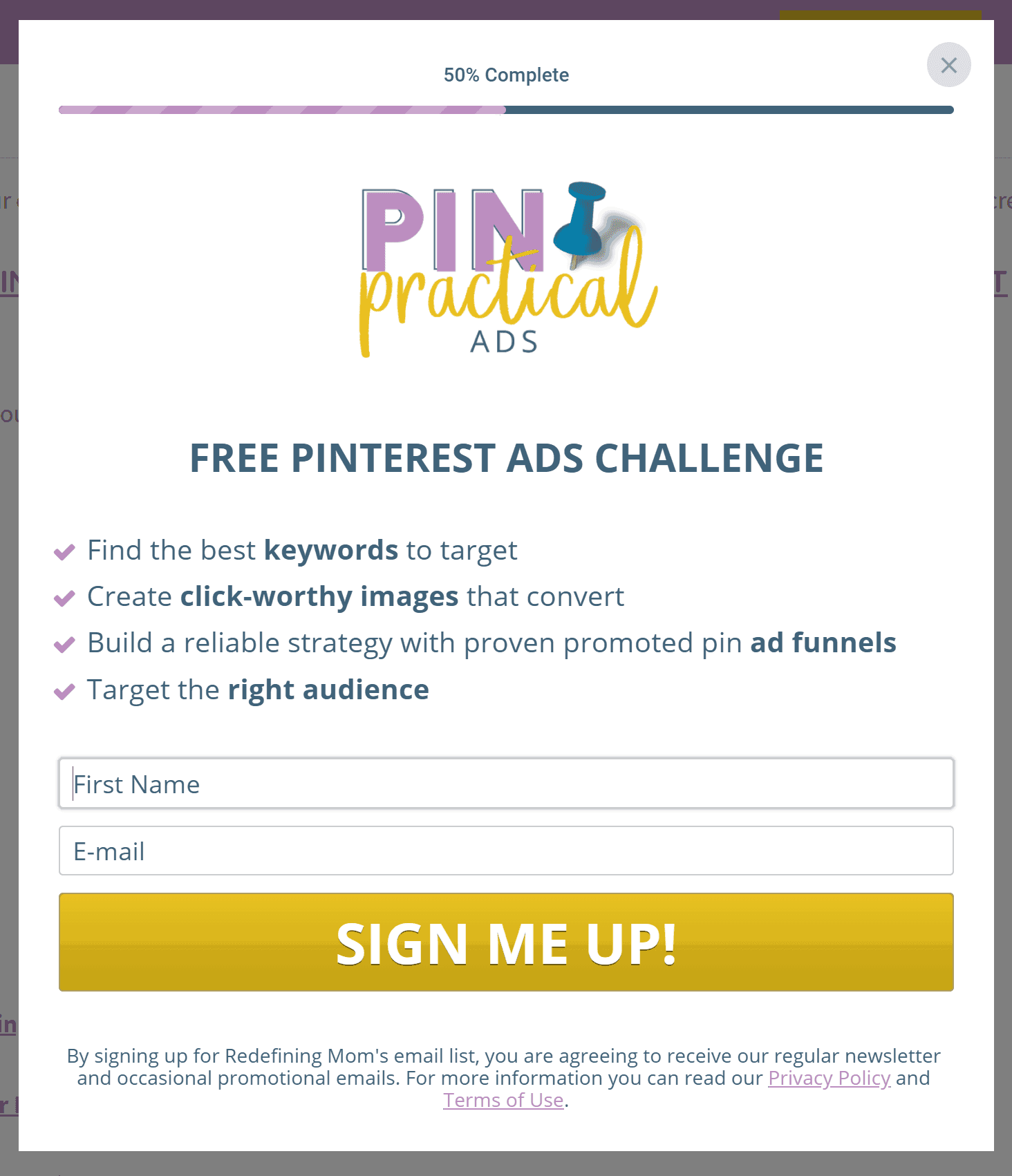 free challenge to grow your email list lighbox