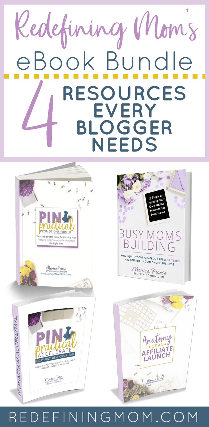 Redefining Mom's eBook Blogger Bundle, blogging resources | blogging tips | how to make money online | grow a profitable blog | how to start a blog and make money online #blogging #bloggingtips via @redefinemom