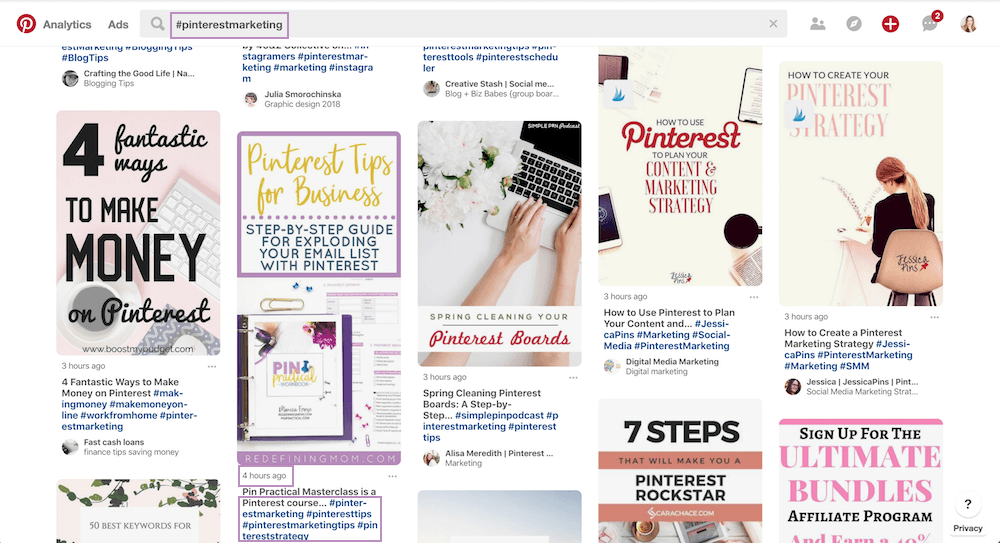 Pinterest Hashtag Feed