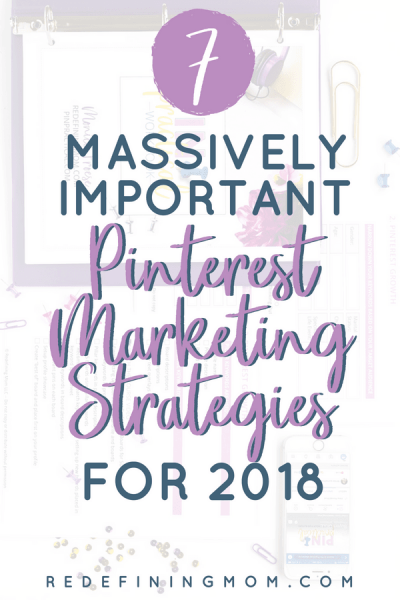 Pinterest Marketing Strategies and Tips for 2018! The latest Pinterest marketing tips for business that you need to be aware of. These Pinterest tips for bloggers will help you rapidly grow your business using Pinterest.