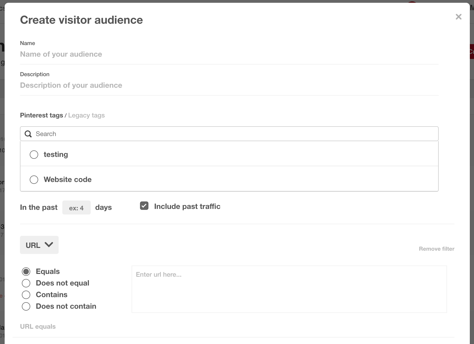 How to Set Up Your Pinterest Retargeting Audience of Past Website Visitors