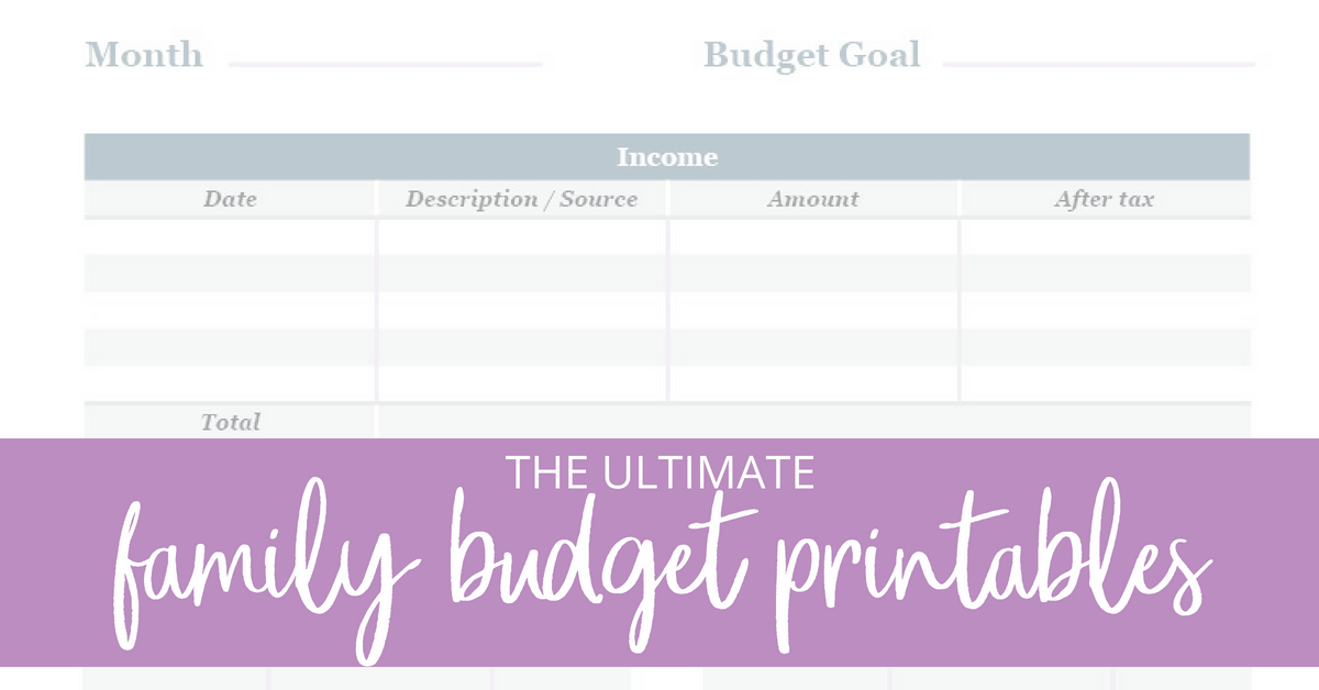 Tired of not knowing what your family finances are each month and having no grasp of your monthly spending? Get organized with my family budget planner and get your money under control with these free printables!