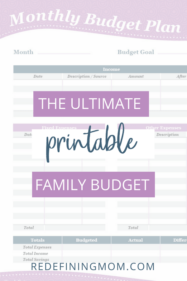 Tired of not knowing what your family finances are each month and having no grasp of your monthly spending? Get organized with my family budget worksheet and get your money under control with these free printables!