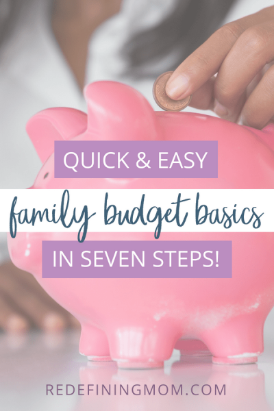 With these practical family budget basics, you can create an organized household plan to take control of your finances for the whole home.