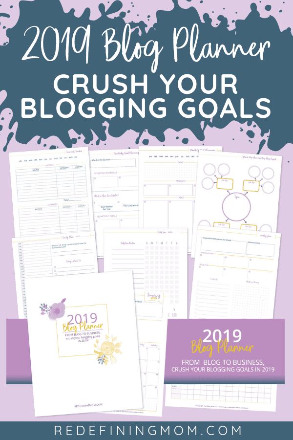 Do you need to increase your blog income? Goal setting for the new year is the way to do it! Download your copy of the 2019 Blog Planner including monthly and quarterly goal planning sheets! Goal setting for your blog you can't afford to not do. #goalplanning #goalsetting #blogging