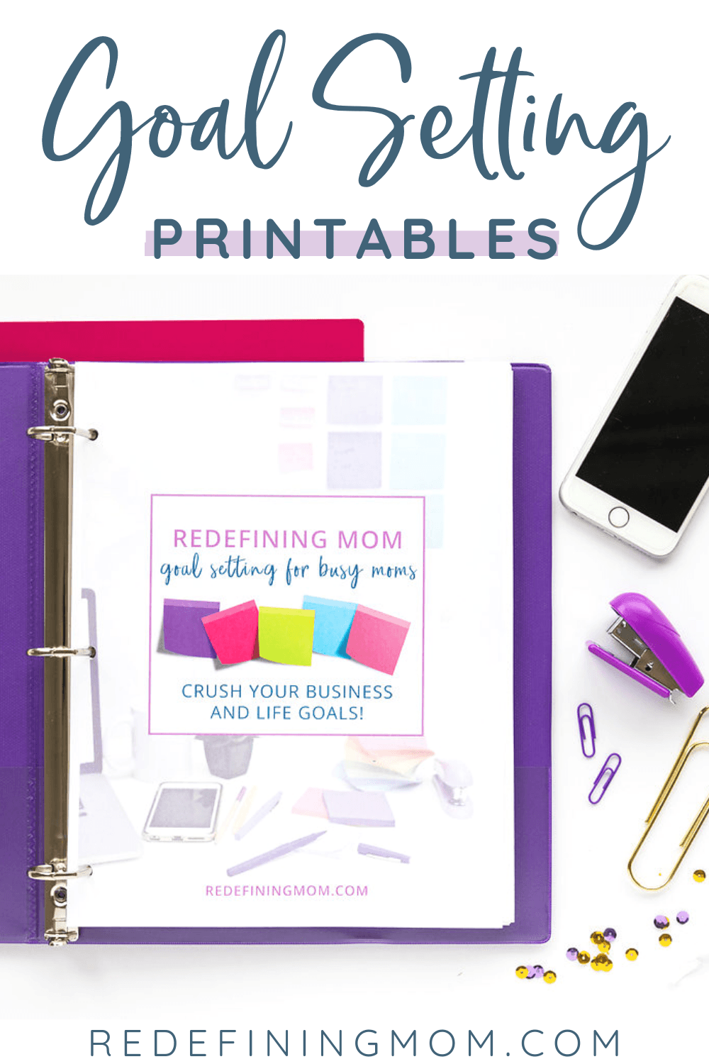 Do you struggle with goal setting? I have an entire goal planning workbook for you! Download your free goal setting printable worksheets. This life goal planning printable workbook will help you set successful and measurable goals for yourself.