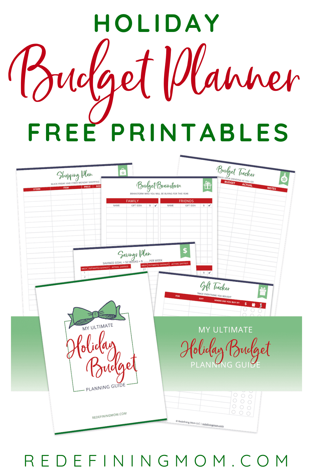Download your free printable holiday budget planner ...