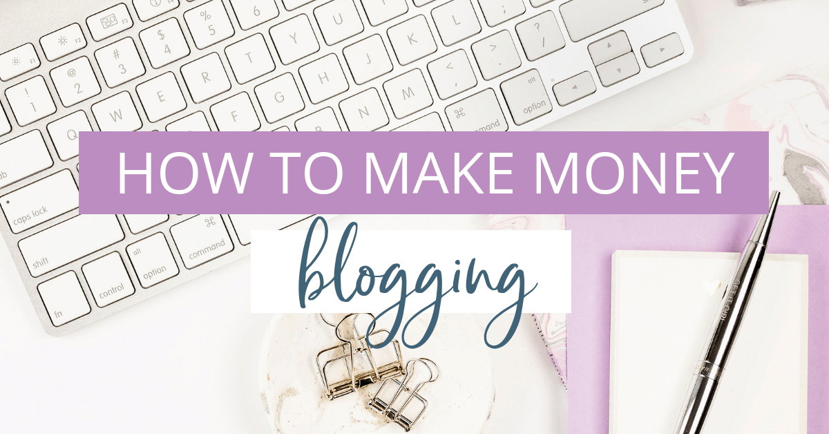 Desktop flatlay to represent how to make money blogging online